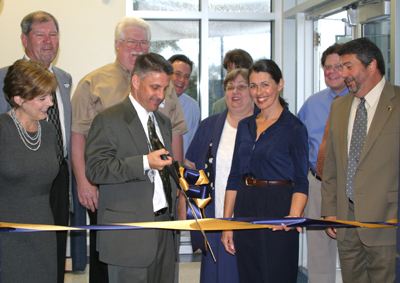 Ribbon Is Cut For New Administrative Area at Covington High