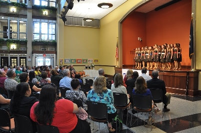 Show Choir Entertains at Perfect Attendance Reception